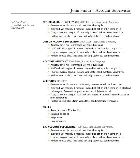 Best Resume Formats Ͽ� 40 Free Samples Examples Format Download: 7 Mẫu CV Bằng Tiếng Anh Cho Sinh Viên Mới Ra Trường